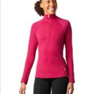 Smartwool 4/4 front zip pullover base layer shirt